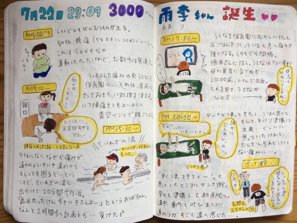 【出産エピソード】出産後、胎盤を食べた!? 絵日記出産レポート。